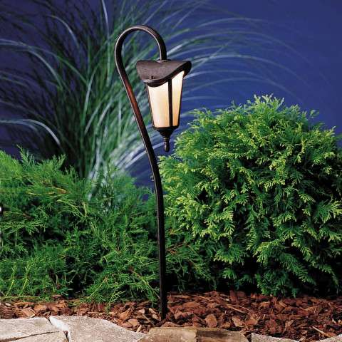 Kichler 15313TZG Path & Spread 1-Lt 12V in Tannery Bronze w/ Gold Accent.