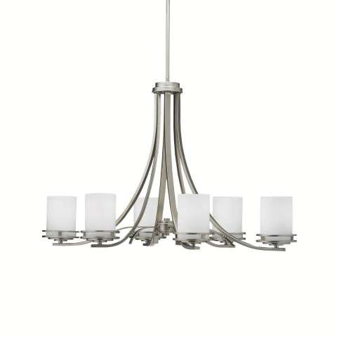 Kichler 1673NI Chandelier 6Lt in Brushed Nickel.