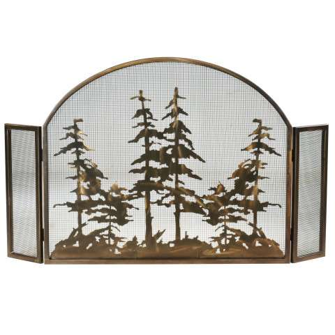 "Tall Pines Arched Fireplace Screen - 50"" Wide x 30"" Tall"