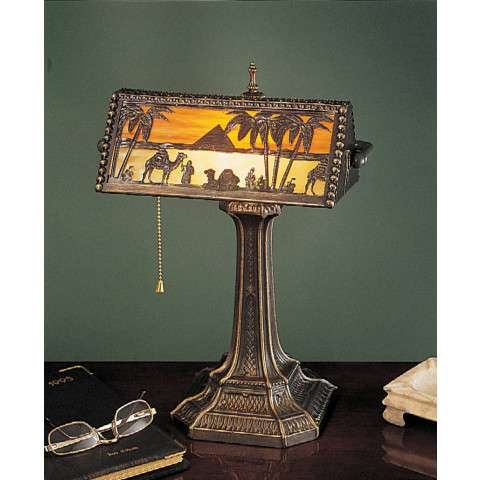 Meyda Tiffany 27142 Camel Mission Bankers Lamp