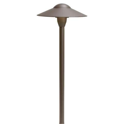 Kichler 15310AZT Path & Spread 1-Lt 12V in Textured Architectural Bronze.