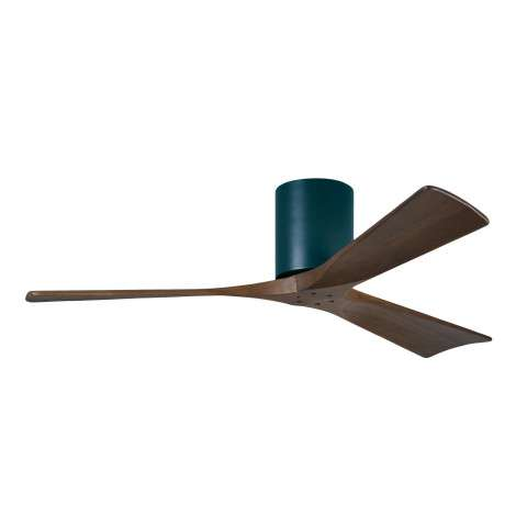 Matthews Fan Co. Atlas Irene-H 3 Blade 52 Inch Ceiling Fan Model IR3H-BK-WA-52 in Black