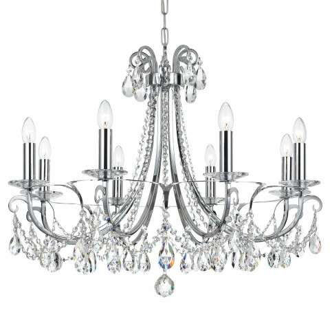 Crystorama Othello 8 Light Clear Crystal Polished Chrome Chandelier
