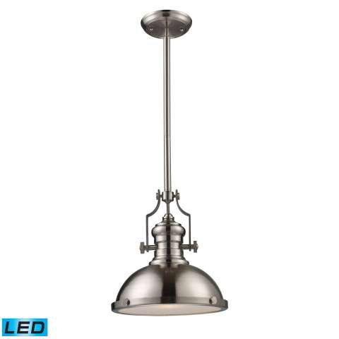 Chadwick 1-Light Pendant In Satin Nickel - LED Offering Up To 800 Lumens (60 Watt Equivalent) Wit…