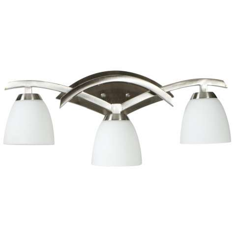 Craftmade Exteriors Viewpoint - Brush Nickel 3 Light Vanity Fixture in Brush Nickel