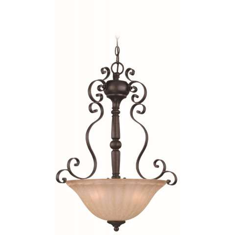 Craftmade Exteriors Lagrange - Seville Iron 3 Light Inverted Pendant in Seville Iron