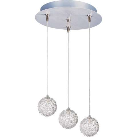 ET2 Contemporary Lighting E94672-78 Starburst 3-light Multi-Light Pendant with Mesh glass