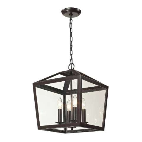 Alanna Collection 4 light semi flush in Oil Rubbed Bronze