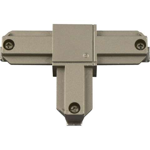 Progress P8722-9109 Inside-right polarity T connector in Brushed Nickel finish.