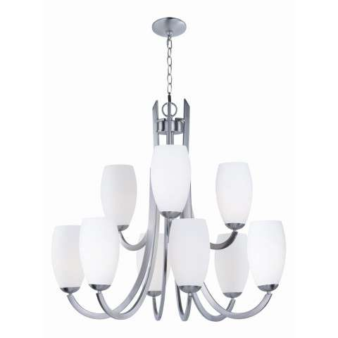 Taylor 9-Light Chandelier in Satin Nickel