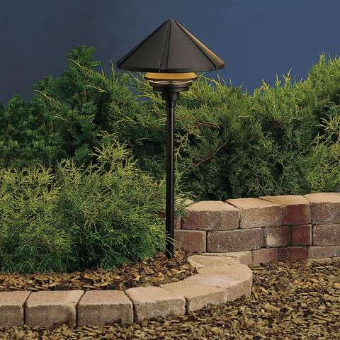 Kichler 15211BKT Path & Spread 1-Lt 120V in Textured Black.
