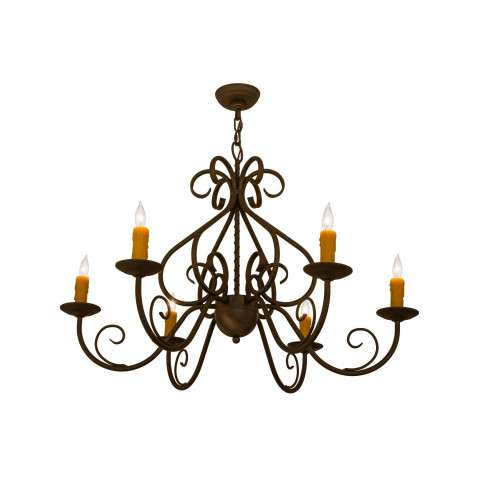 "36"" W Jenna 6 Lt Chandelier - Custom Crafted In Yorkville - New York Please Allow 30 Days"