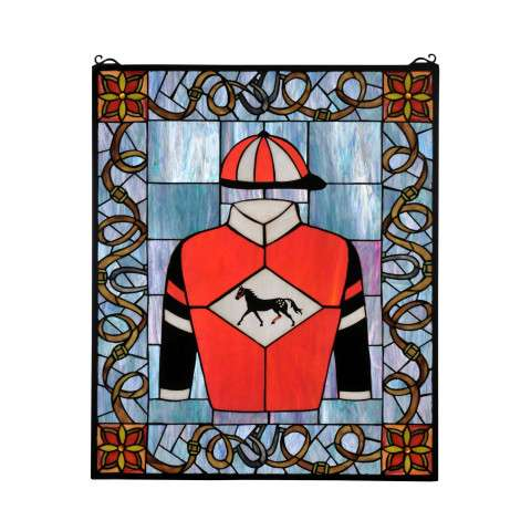 Meyda Tiffany 99363 Jockey Silks Stained Glass Window