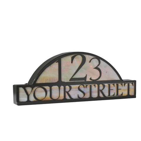 Meyda Tiffany 18598 Personalized Street Address Sign in Timeless Bronze finish
