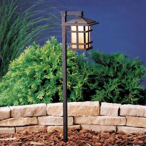 Kichler 15232AGZ Path & Spread 1-Lt 120V in Aged Bronze.