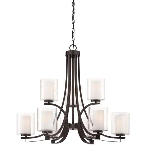 Other Chandelier Fixtures 9 Lt Ch In Smoked Iron