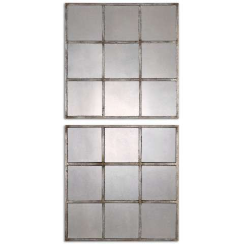Uttermost Derowen Squares Antique Mirrors S/2