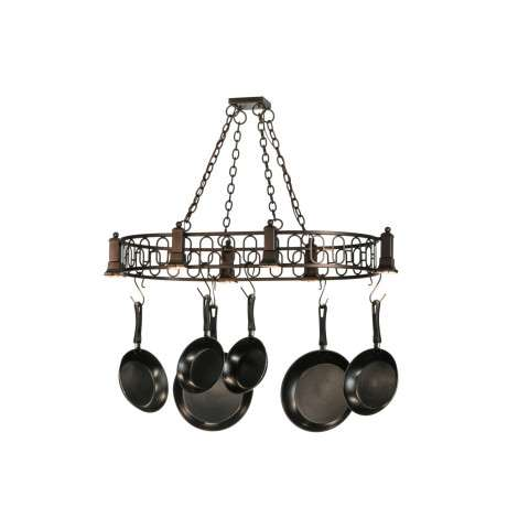 "42.5"" L Revival Deco Oblong Pot Rack. Custom Crafted In Yorkville - New York Please Allow 30 Days"