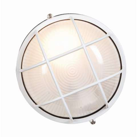 Access Lighting 20294-WH/FST Nauticus Wet Location Bulkhead in White finish with Frosted glass