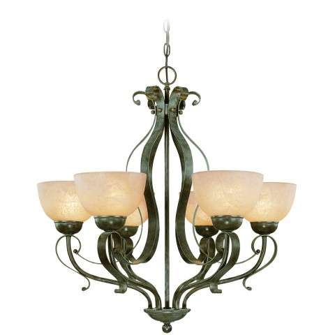 Craftmade Exteriors Brookfield - Brownstone 6 Light Chandelier in Brownstone