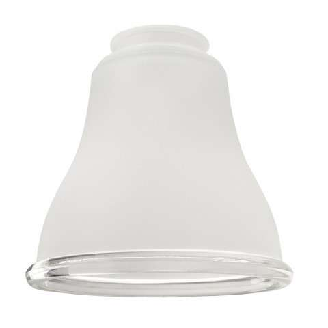 """2 1/4"""" Ceiling Fan Glass - Frosted With Clear Ring Bell"""