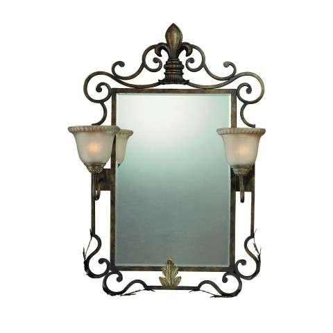 Craftmade Exteriors Devereaux - Burleson Bronze 2 Light Mirror in Burleson Bronze