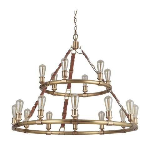 Huxley 18 Light Chandelier in Vintage Brass