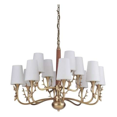 Churchill 12 Light Chandelier in Vintage Brass
