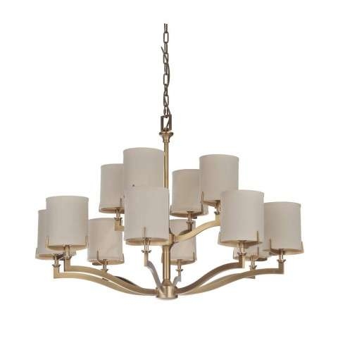 Devlyn 12 Light Chandelier in Vintage Brass