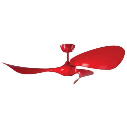 Fluid 54 Inch Ceiling Fan w/DC Motor In Lazer Red