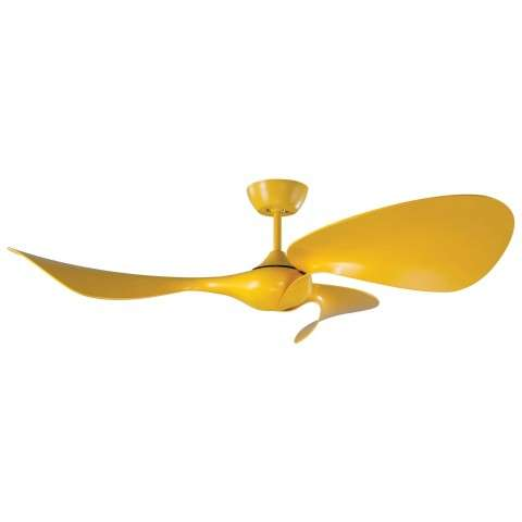 Fluid 54 Inch Ceiling Fan w/DC Motor In Cyber Yellow