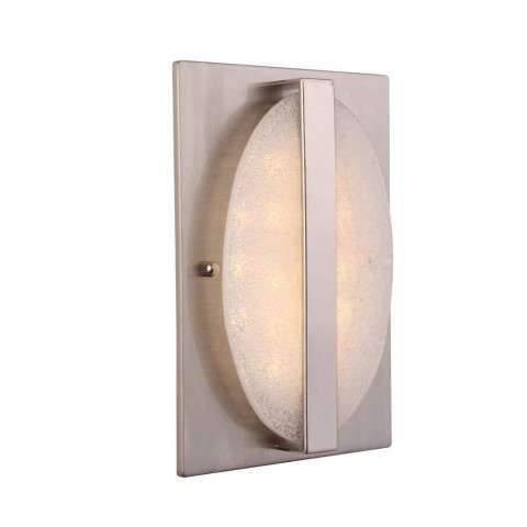 Recessed w/Round Artisan Glass in Brushed Polished Nickel