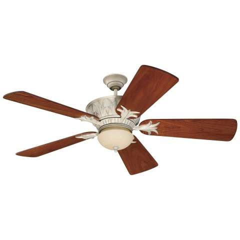 Craftmade Pavillion Ceiling Fan Model CF-PV52AWD-B554P-TK7 in Antique White Distressed