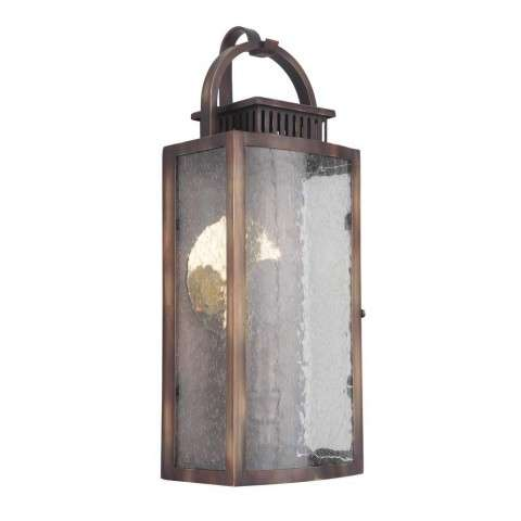 Hearth Small Pocket LED Sconce in Weathered Copper