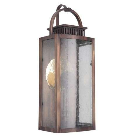 Hearth Medium Pocket LED Sconce in Weathered Copper