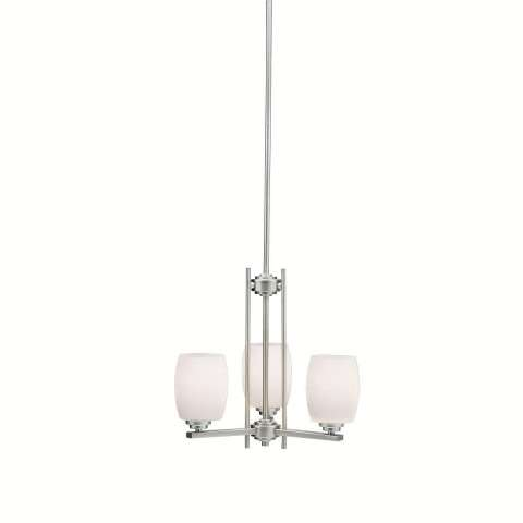 Kichler 1894NI Chandelier 3Lt in Brushed Nickel.