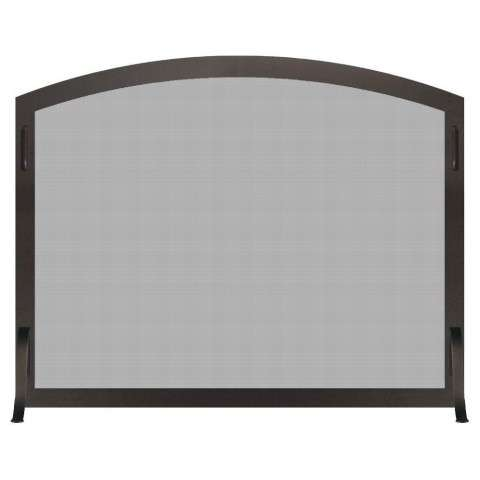 Custom Single Panel Arched Fireplace Screen - Carolina Arch