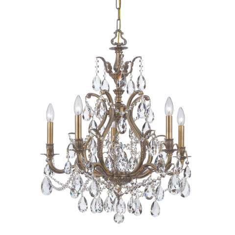Crystorama 5575-AB-CL-MWP Clear Hand Cut Chandelier