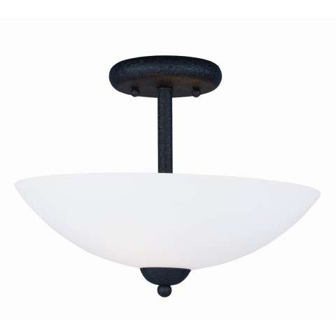 Taylor 2-Light Semi Flush Mount in Textured Black