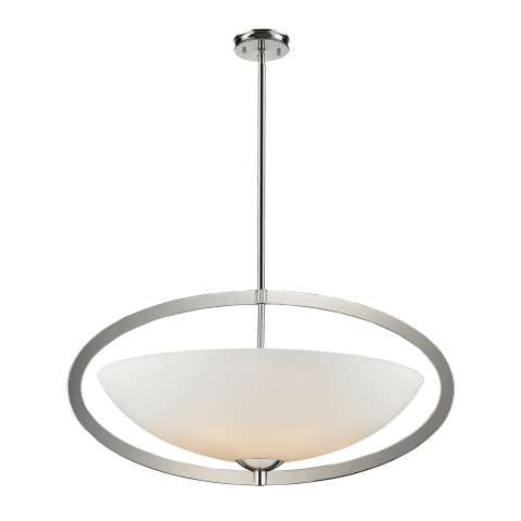 Elk Lighting 10238/6 6- Light Pendant In Polished Nickel
