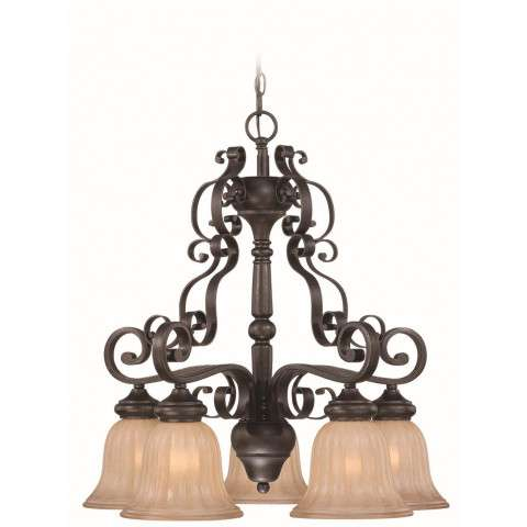 Craftmade Exteriors Lagrange - Seville Iron 5 Light Chandelier in Seville Iron