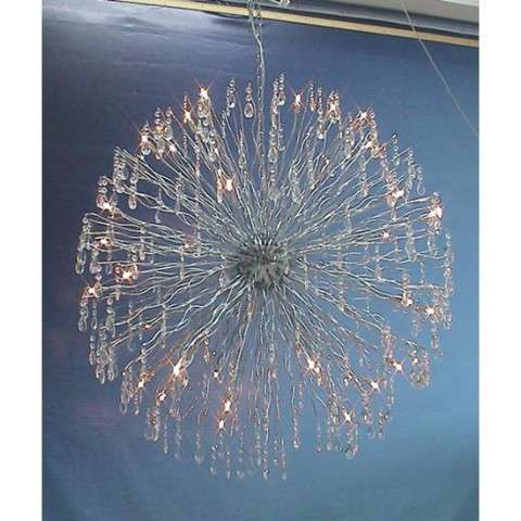 "39.5"" W Euro Super Nova 38 Lt Chandelier. This Item Is Custom Made. Please Call For Lead Time."