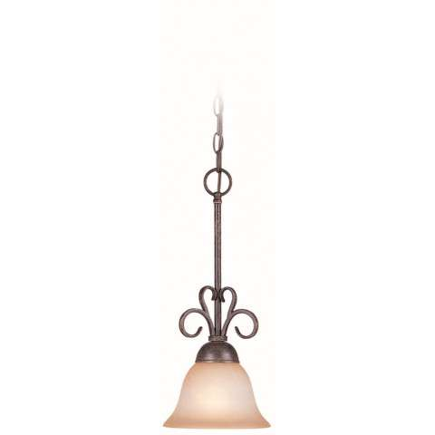 Craftmade Exteriors Sheridan - Forged Metal 1 Light Mini Pendant in Forged Metal