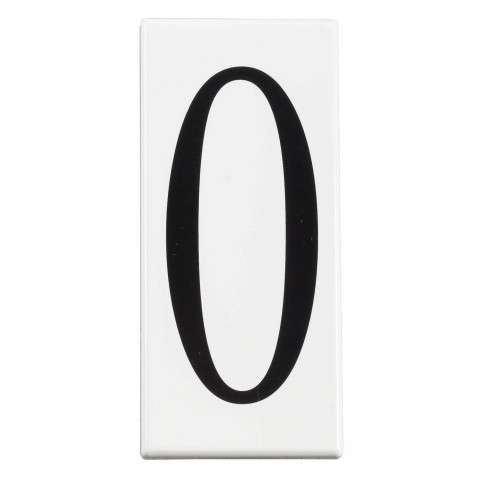 Address Light Number 0 Panel in White Material (Not Painted)