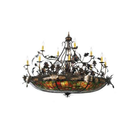 Meyda Tiffany 100424 Greenbriar Oak 12 Arm Chandelier