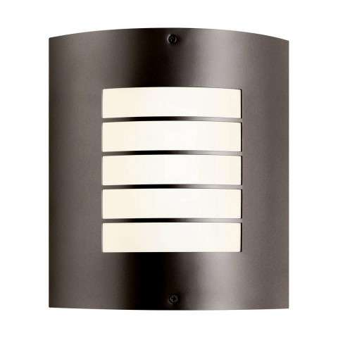 Kichler 10640AZ Outdoor Wall 1Lt Fluorescent in Architectural Bronze. ENERGY STAR qualified light fixture
