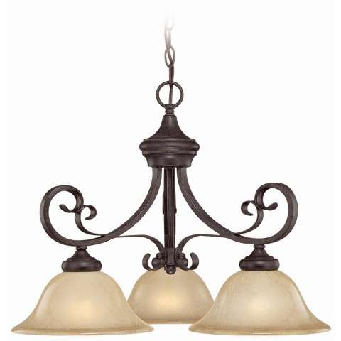 Craftmade Exteriors Stanton - English Toffee 3 Light Down Chandelier in English Toffee