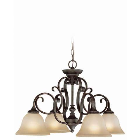 Craftmade Exteriors Barrett Place - Mocha Bronze 4 Light Down Chandelier in Mocha Bronze