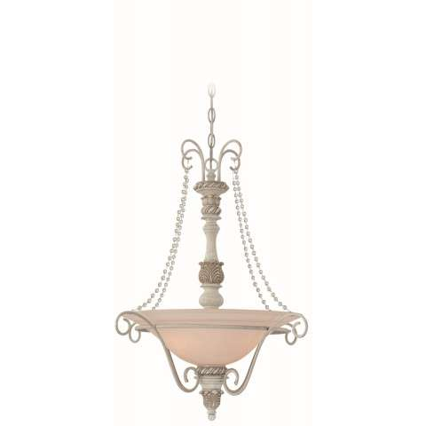Craftmade Exteriors Zoe - Antique Linen 3 Light Inverted Pendant in Antique Linen