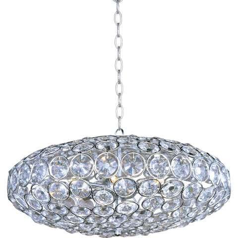 ET2 Contemporary Lighting E24012-20PC Brilliant 8-light Single Pendant in Polished Chrome finish with Crystals